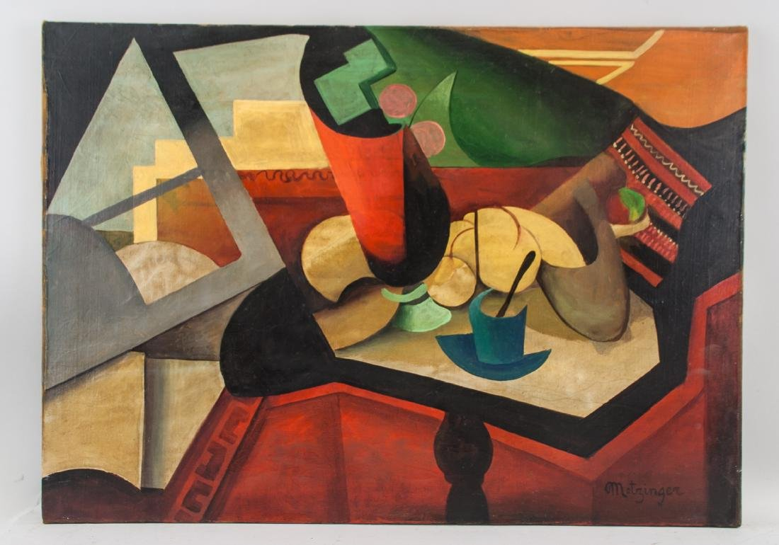 French Oil on Canvas Cubist Signed Metzinger - 2
