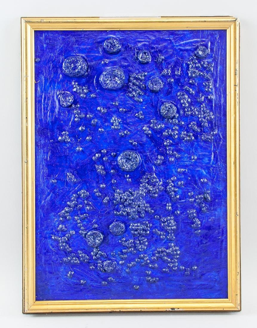 French Abstract Mixed Media Signed Yves Klein - 2