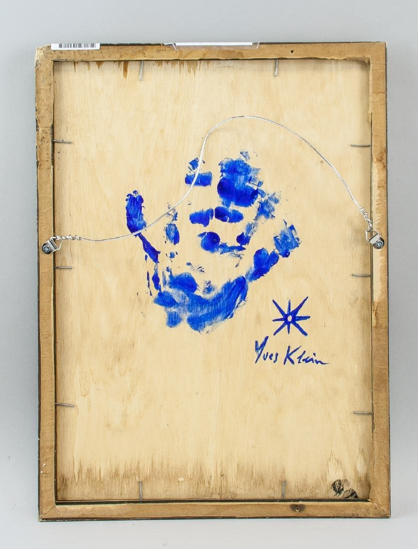French Abstract Mixed Media Signed Yves Klein - 4