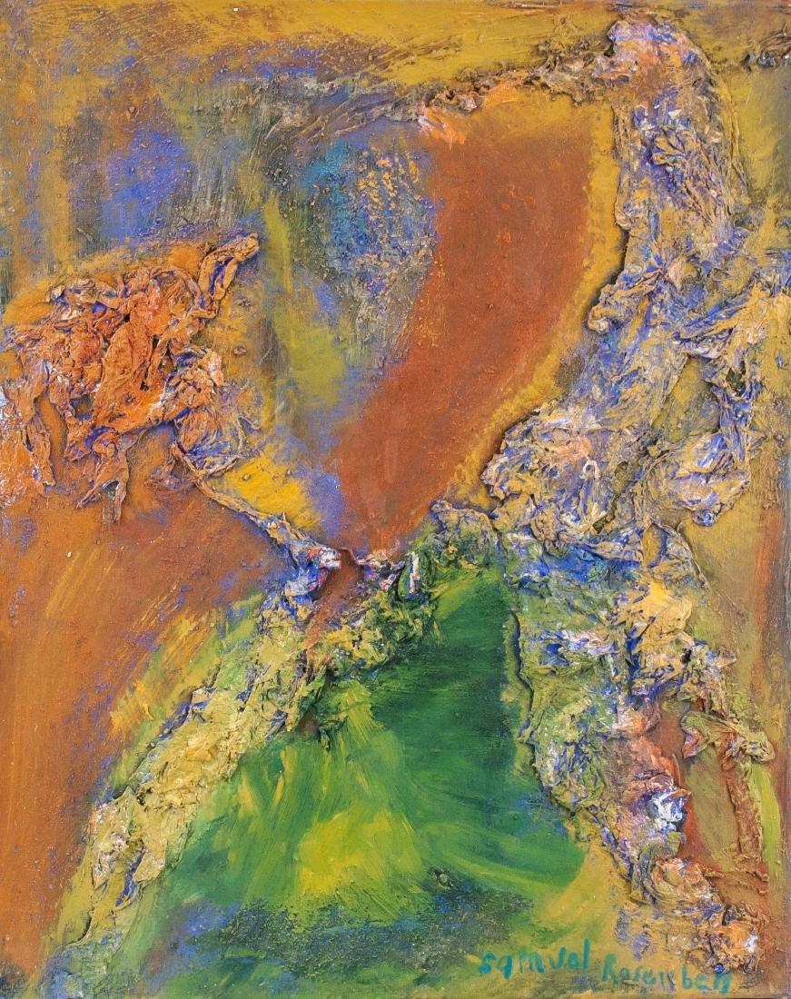 SAMUEL ROSENBERG 1896-1972 Mixed Media Islands