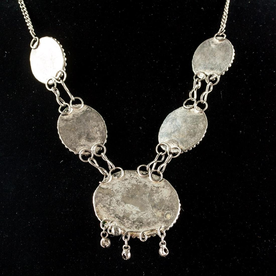 Chinese Hardstone Carved Necklace - 5