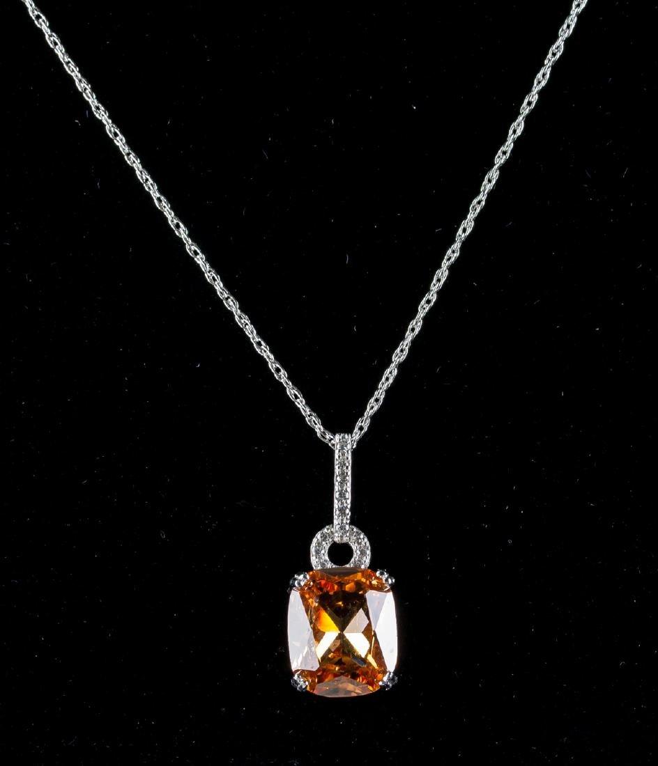 Morganite Necklace w/ 925 Chain