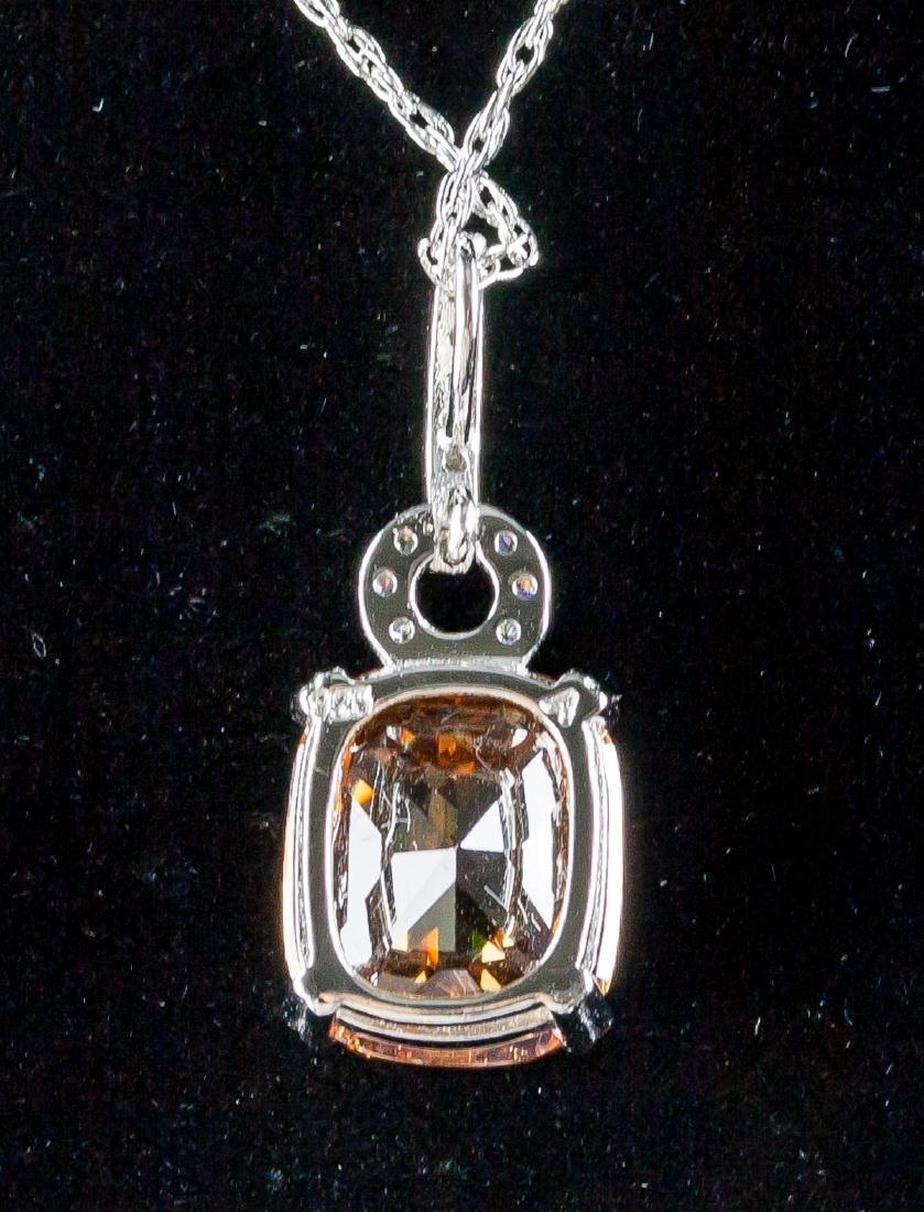 Morganite Necklace w/ 925 Chain - 2