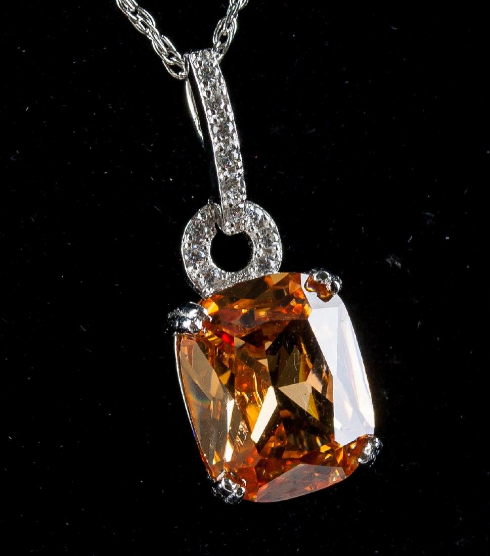 Morganite Necklace w/ 925 Chain - 3