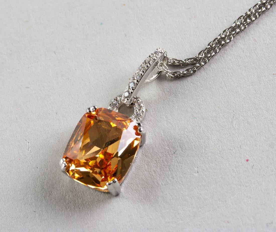 Morganite Necklace w/ 925 Chain - 4