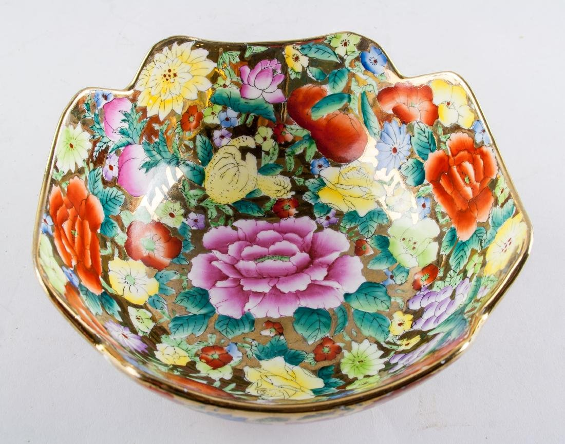 Chinese Famille Rose Porcelain Bowl and Cup - 3