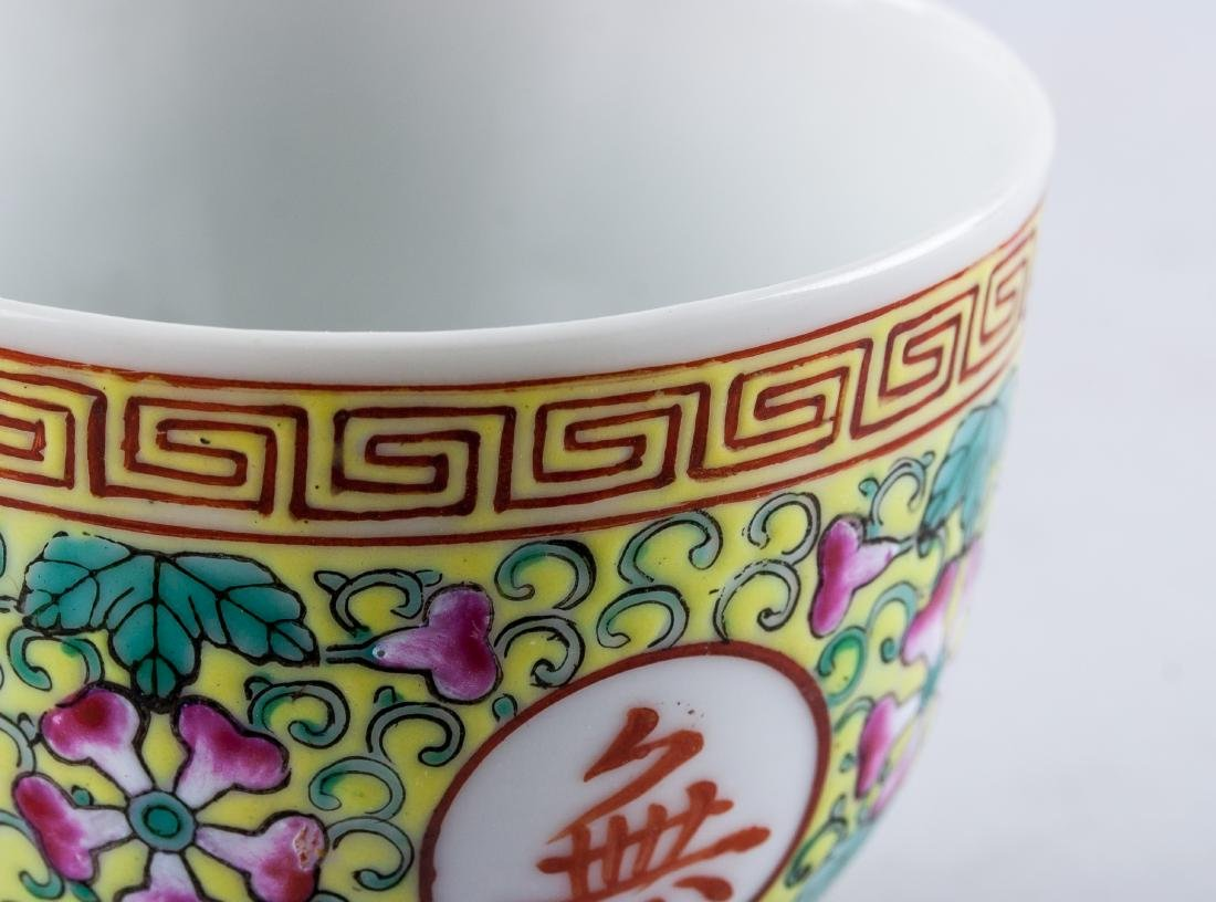 Chinese Famille Rose Porcelain Bowl and Cup - 7