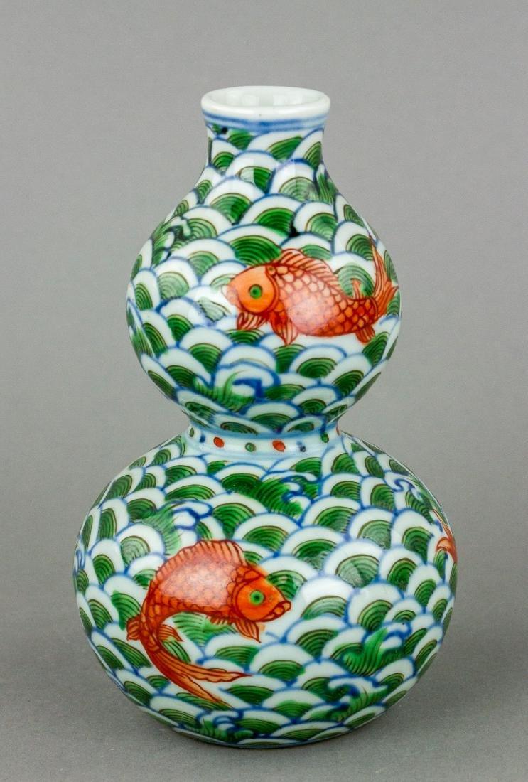 Famille Verte Porcelain Vase Xuande Mark - 2