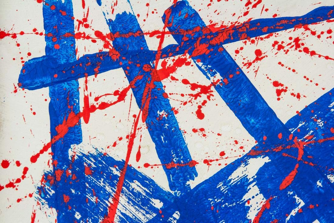 US  Abstract Oil on Canvas Signed Sam Francis - 3