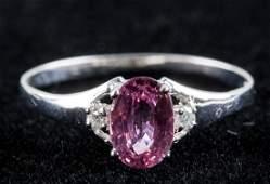 0.85ct Sapphire & 0.02ct Diamond Ring CRV $800