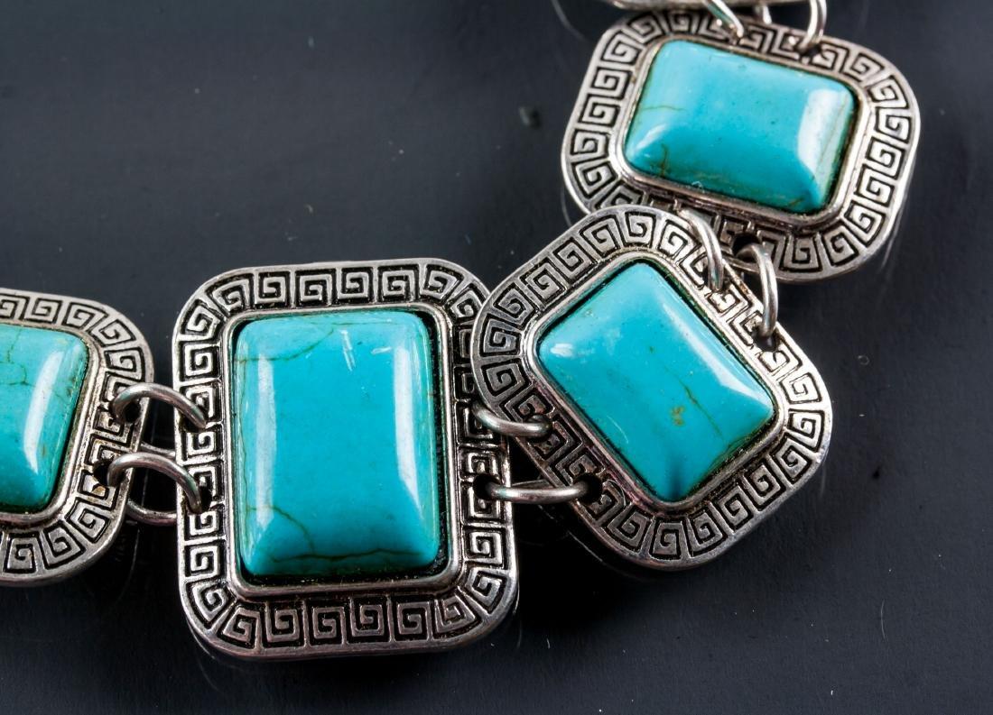 Silver Turquoise Bracelet - 2