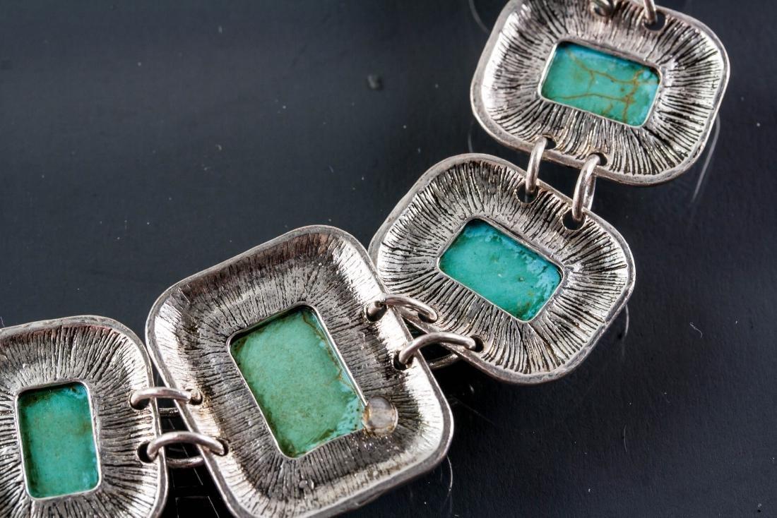 Silver Turquoise Bracelet - 3