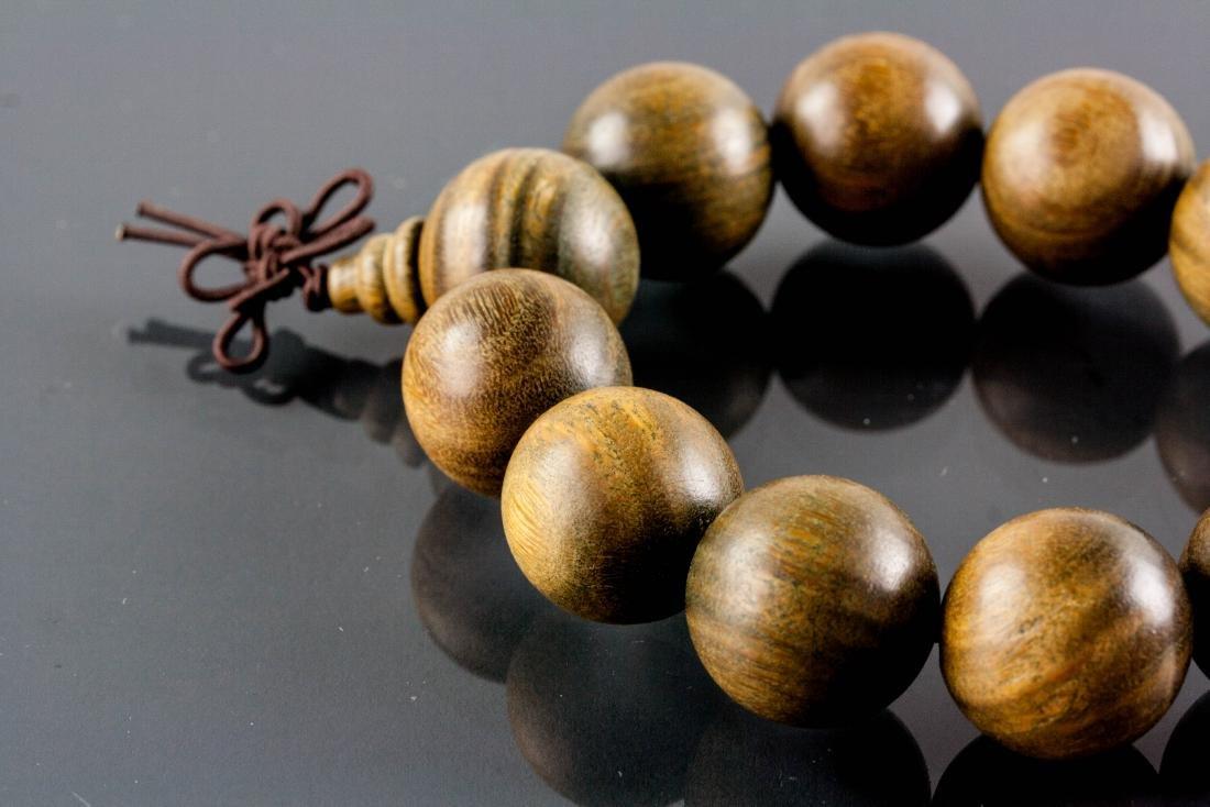 Chinese Zitan Wood Carved Bracelet - 3