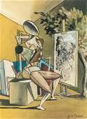 Italian Surrealist Gouache Giorgio de Chirico