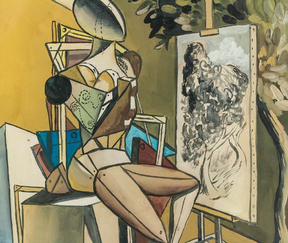 Italian Surrealist Gouache Giorgio de Chirico - 4