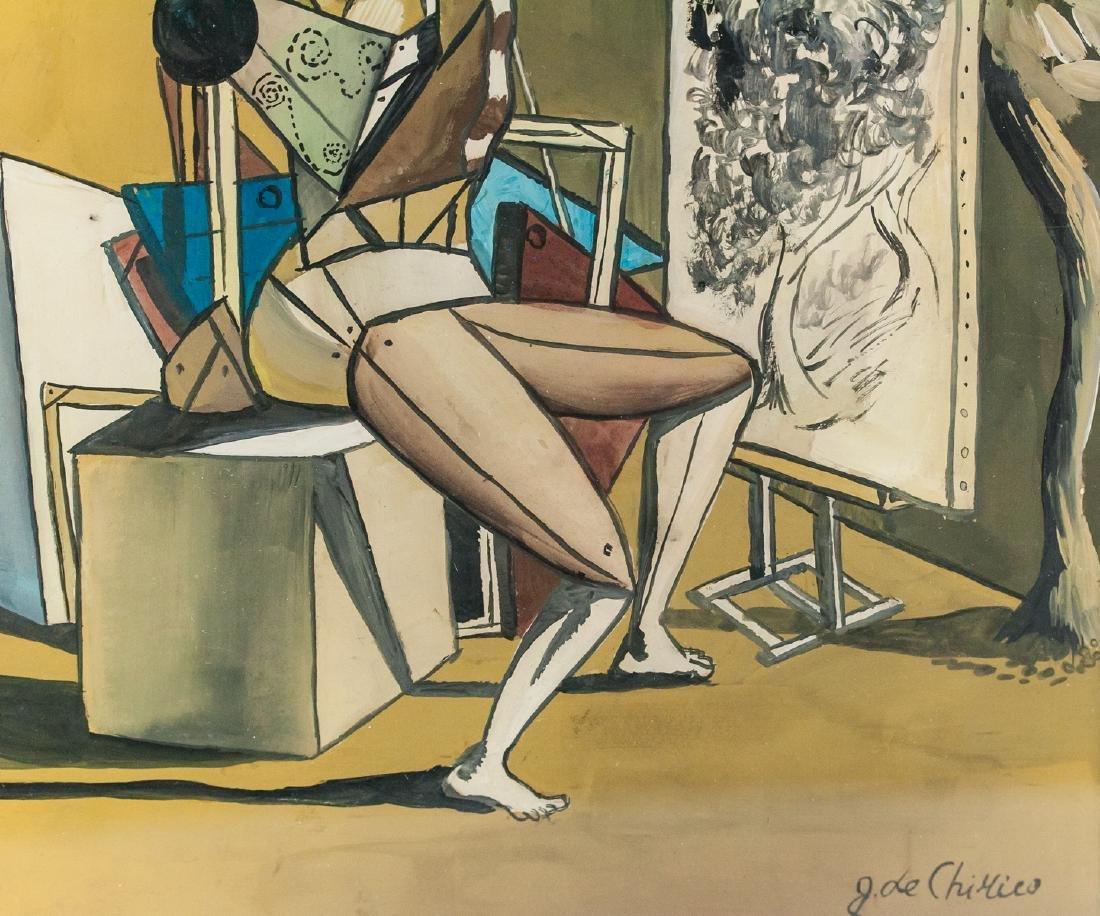 Italian Surrealist Gouache Giorgio de Chirico - 5