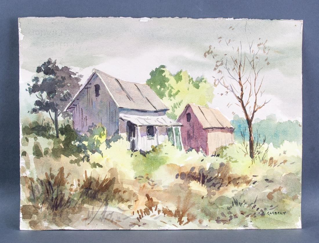 Edward Garbely 1908-1999 US Watercolor Landscape - 2