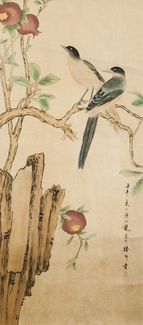 Yan Bolong 1898-1954 Chinese Watercolor Scroll