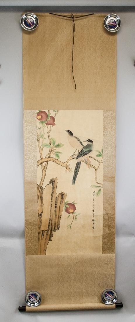 Yan Bolong 1898-1954 Chinese Watercolor Scroll - 2