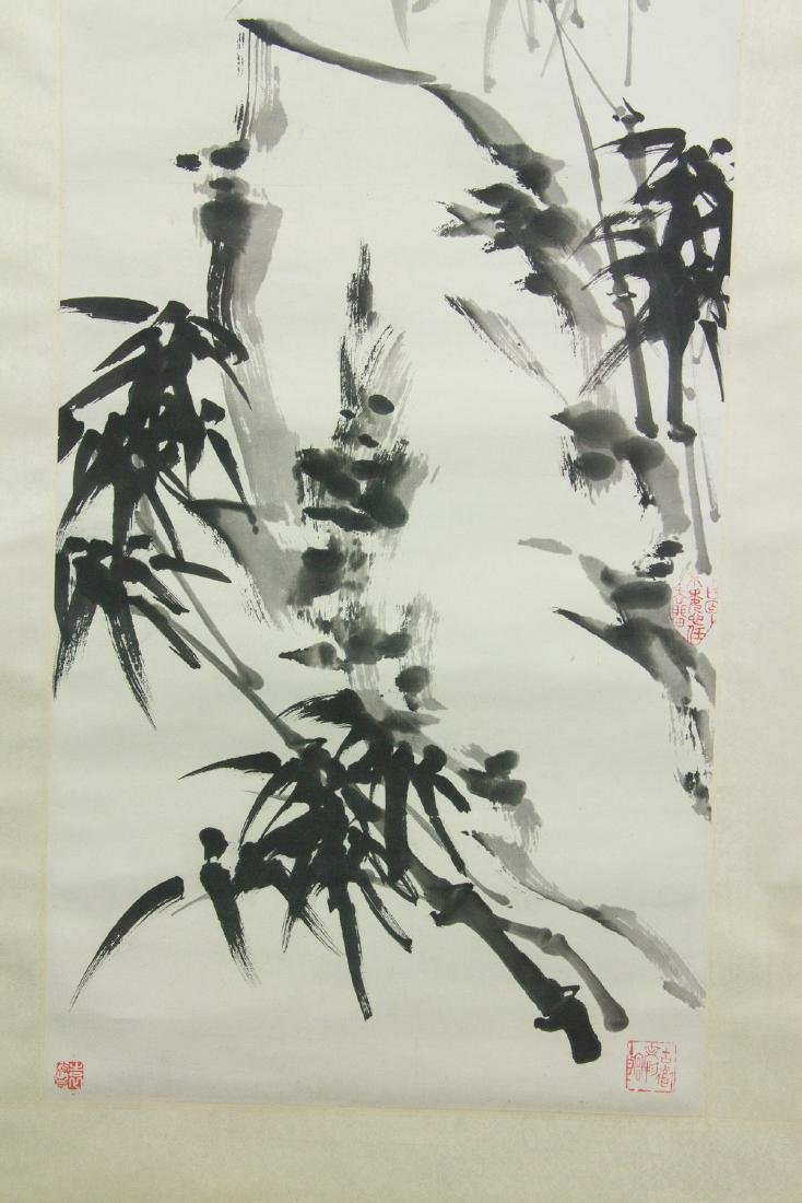Yin Yu Chinese Ink Bamboo on Paper Scroll - 3