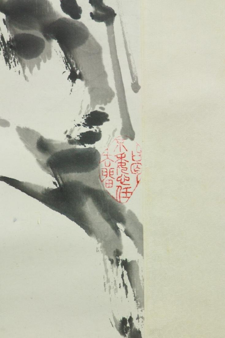 Yin Yu Chinese Ink Bamboo on Paper Scroll - 4