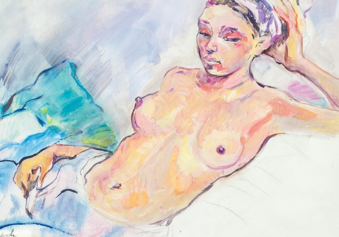 Russian Impressionism Gouache Zinaida Serebriakova - 3