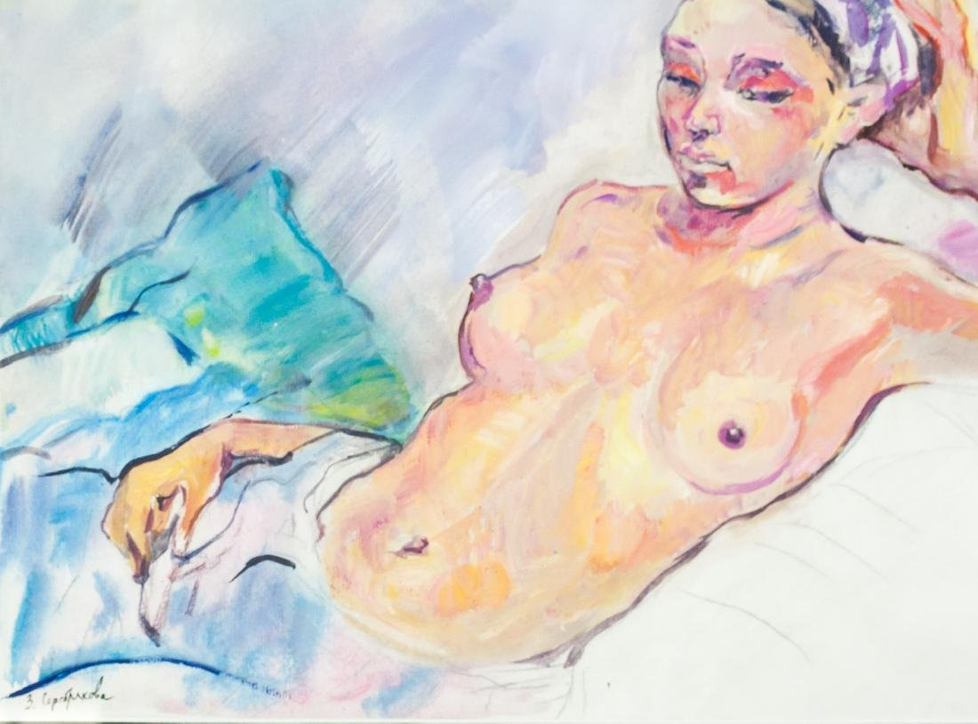 Russian Impressionism Gouache Zinaida Serebriakova - 4