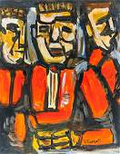 French Fauvist OOC Portrait Signed Rouault