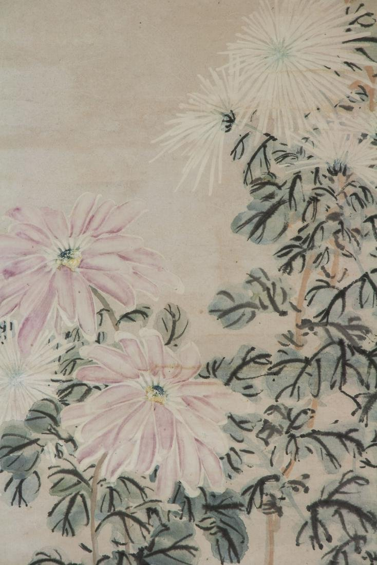 Li Shan 1686-1762 Chinese Watercolour Paper Scroll - 3
