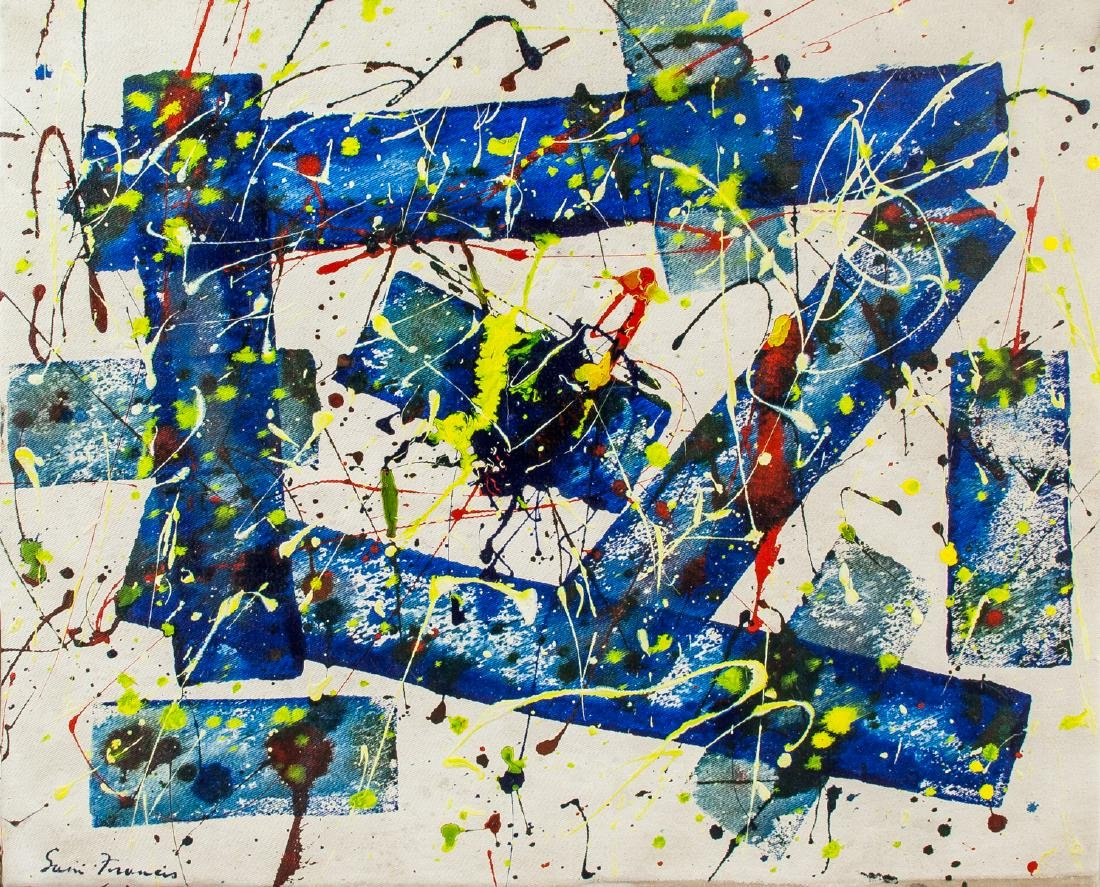 American Oil Abstract Signed Sam Francis