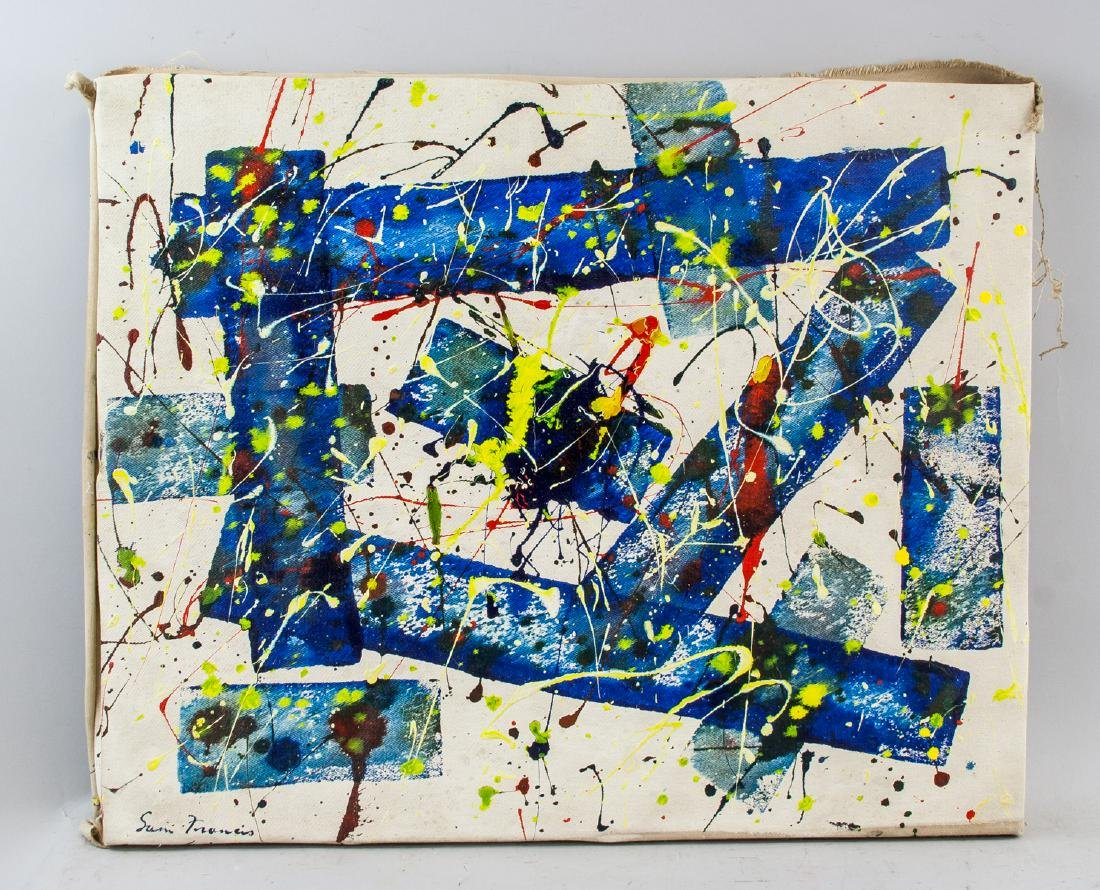 American Oil Abstract Signed Sam Francis - 2