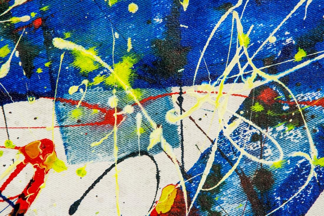 American Oil Abstract Signed Sam Francis - 3