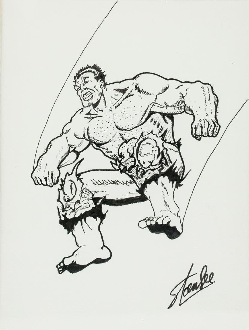 American Pop Art Ink Signed Stan Lee - 2