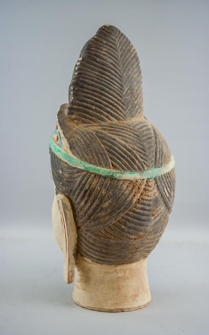 Chinese Large Pottery Guanyin Bodhisattva Head - 4