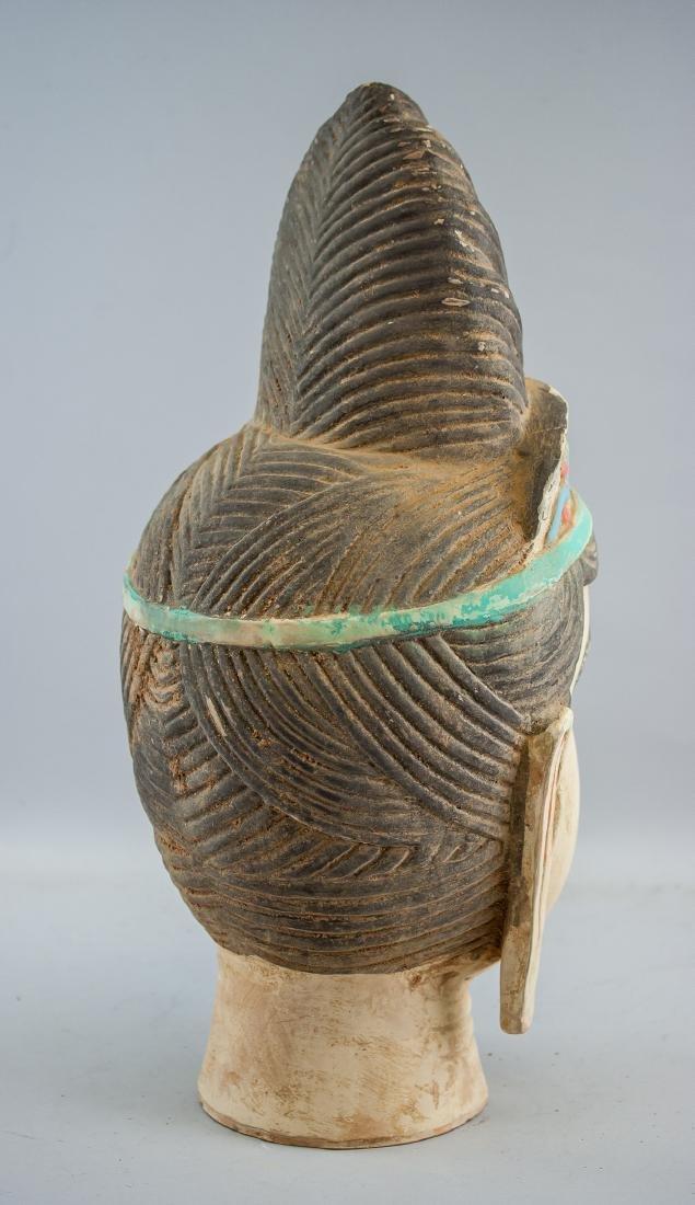 Chinese Large Pottery Guanyin Bodhisattva Head - 6