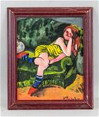 Expressionist Gouache Signed Max Pechstein