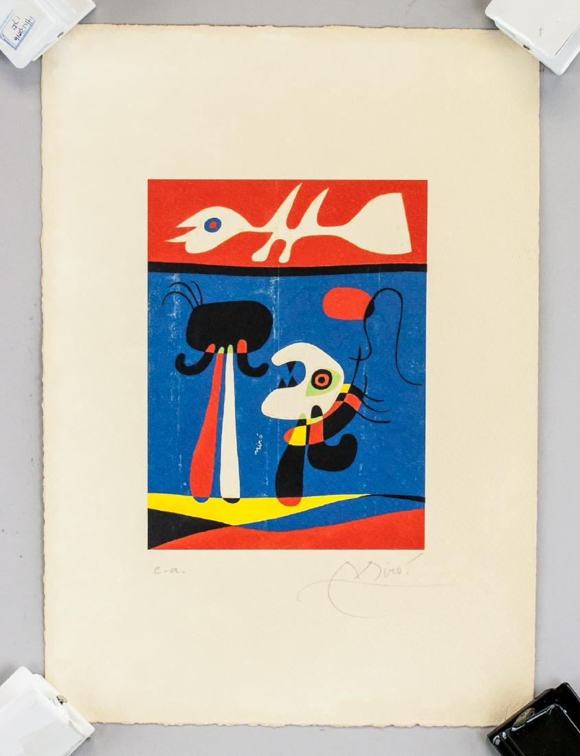 Joan Miro Spanish Surrealist EA Lithograph Paper
