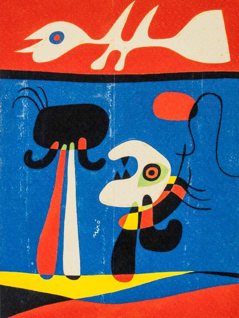 Joan Miro Spanish Surrealist EA Lithograph Paper - 2