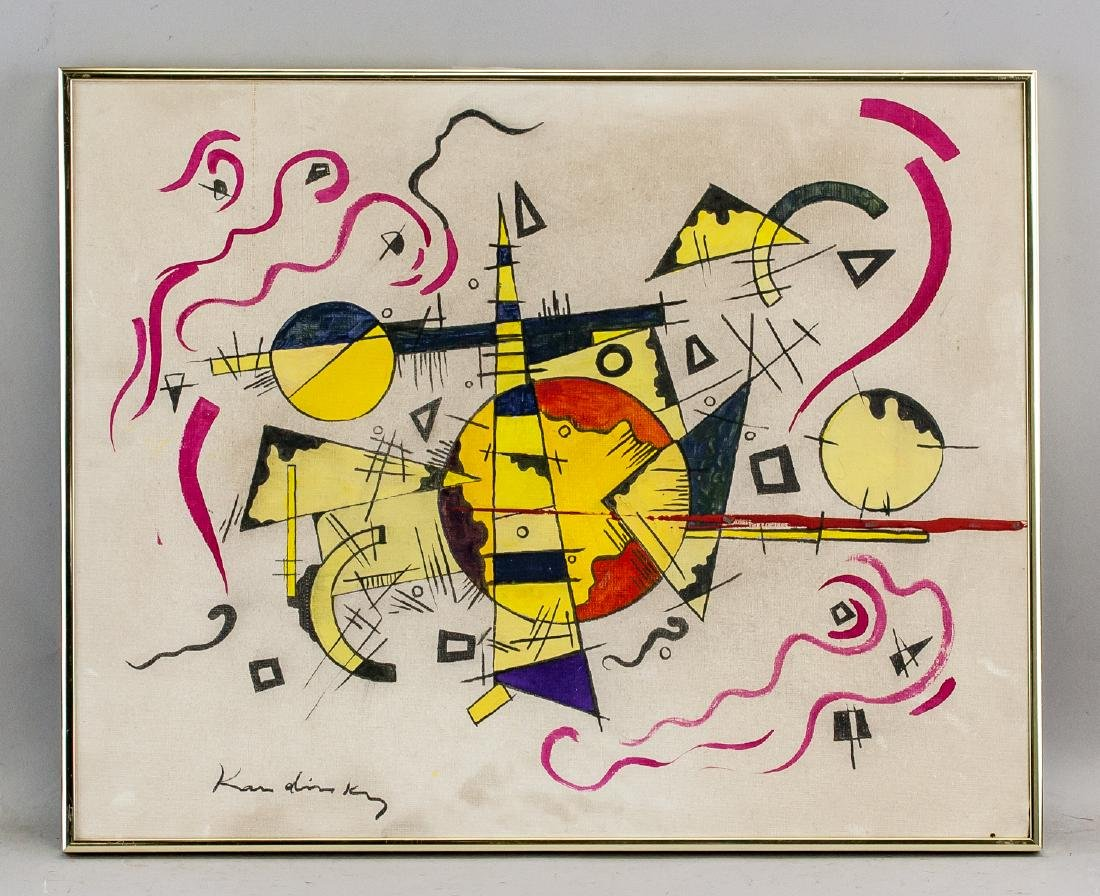 Wassily Kandinsky Russian Abstract Oil on Canvas - 2