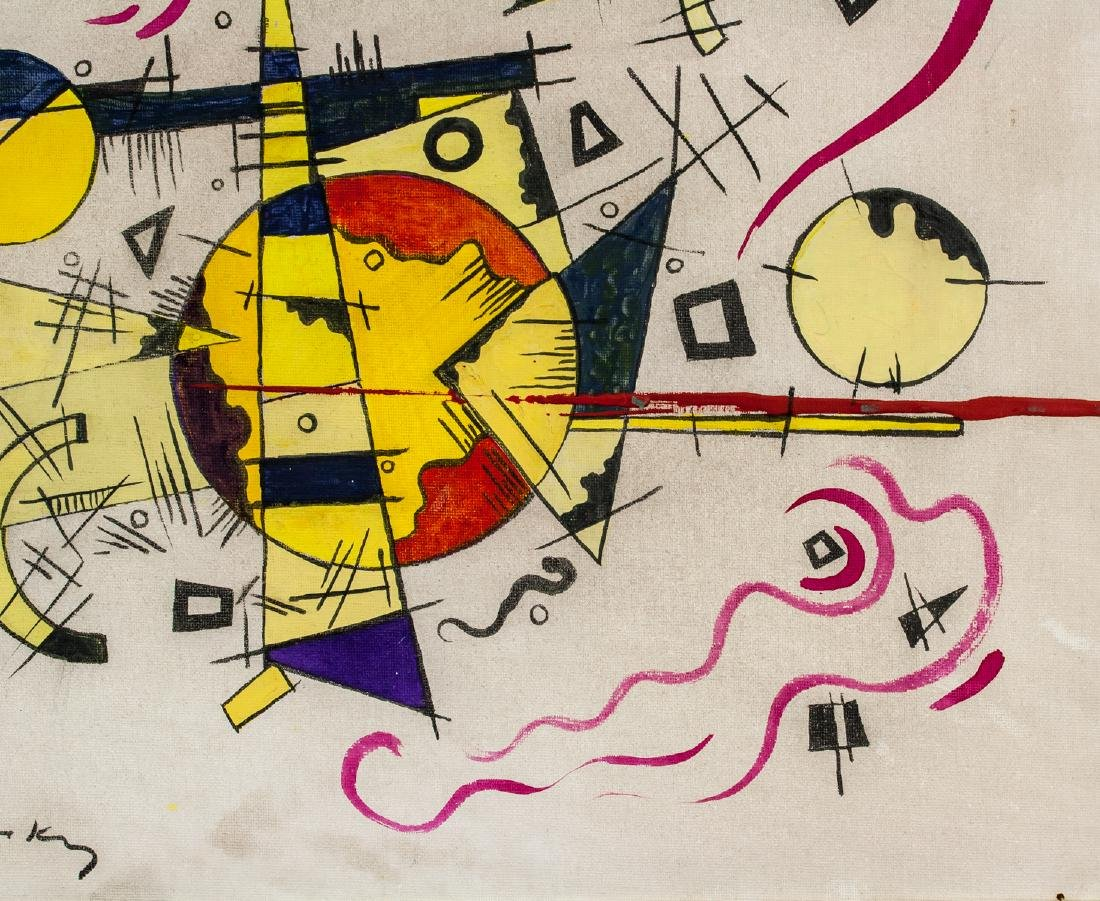 Wassily Kandinsky Russian Abstract Oil on Canvas - 4
