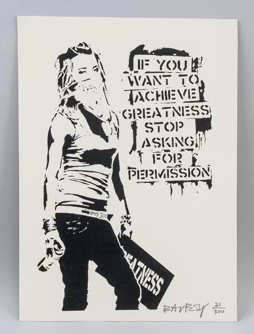 Banksy British b.1974 Silkscreen Lithograph 21/330 - 2
