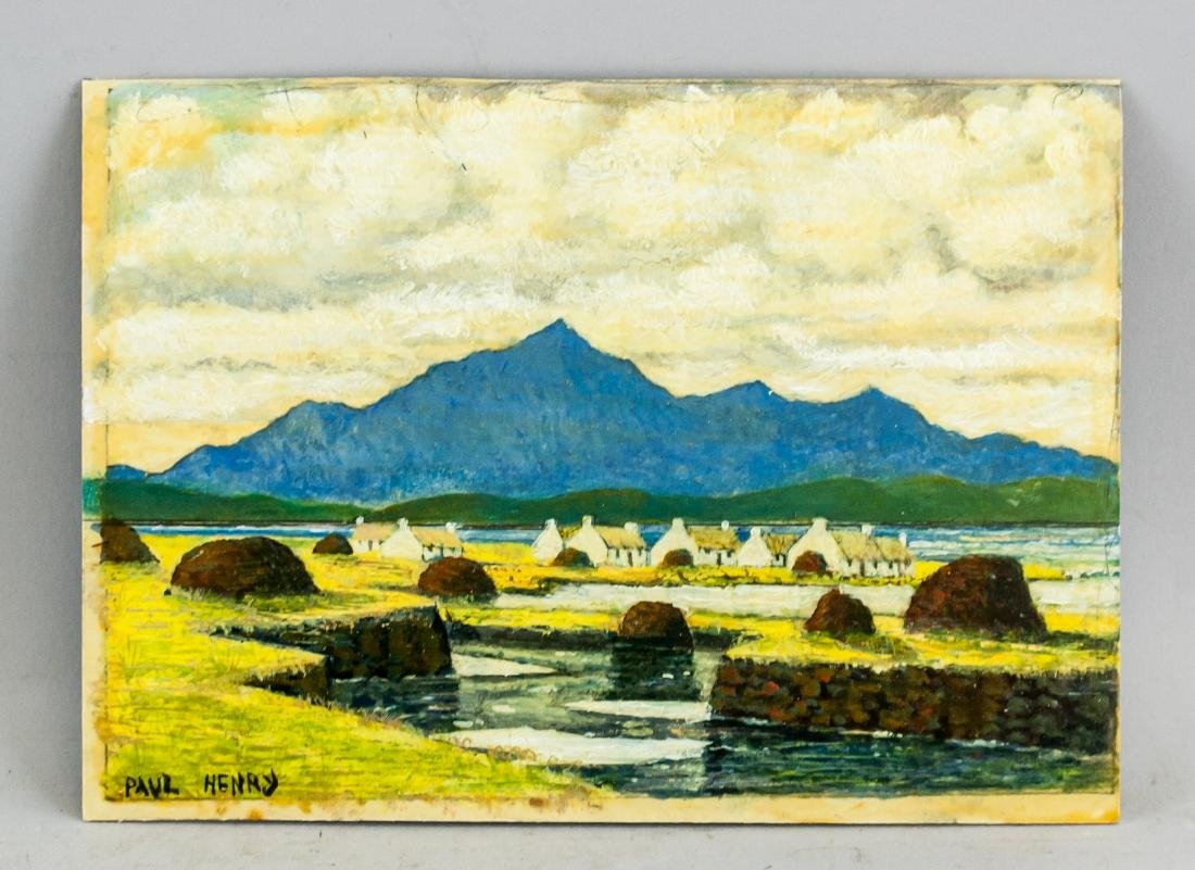 Paul Henry Irish Impressionist Oil on Board - 2