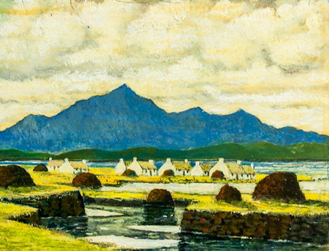 Paul Henry Irish Impressionist Oil on Board - 4