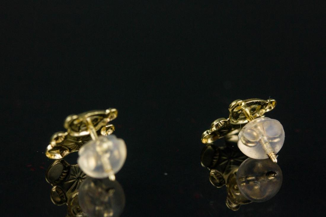 14K Gold Teddy Bear Earrings Retail $200 - 2