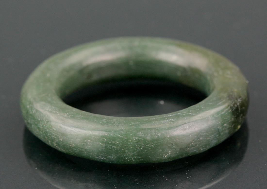 Lot of Chinese Bracelet & Spinach Carved Bangle - 7