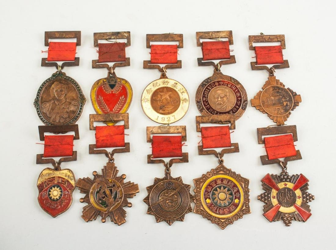 Ten Assorted Chinese Medals