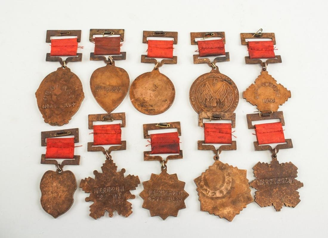 Ten Assorted Chinese Medals - 2