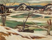 A Y Jackson Canadian Oil on Panel Landscape