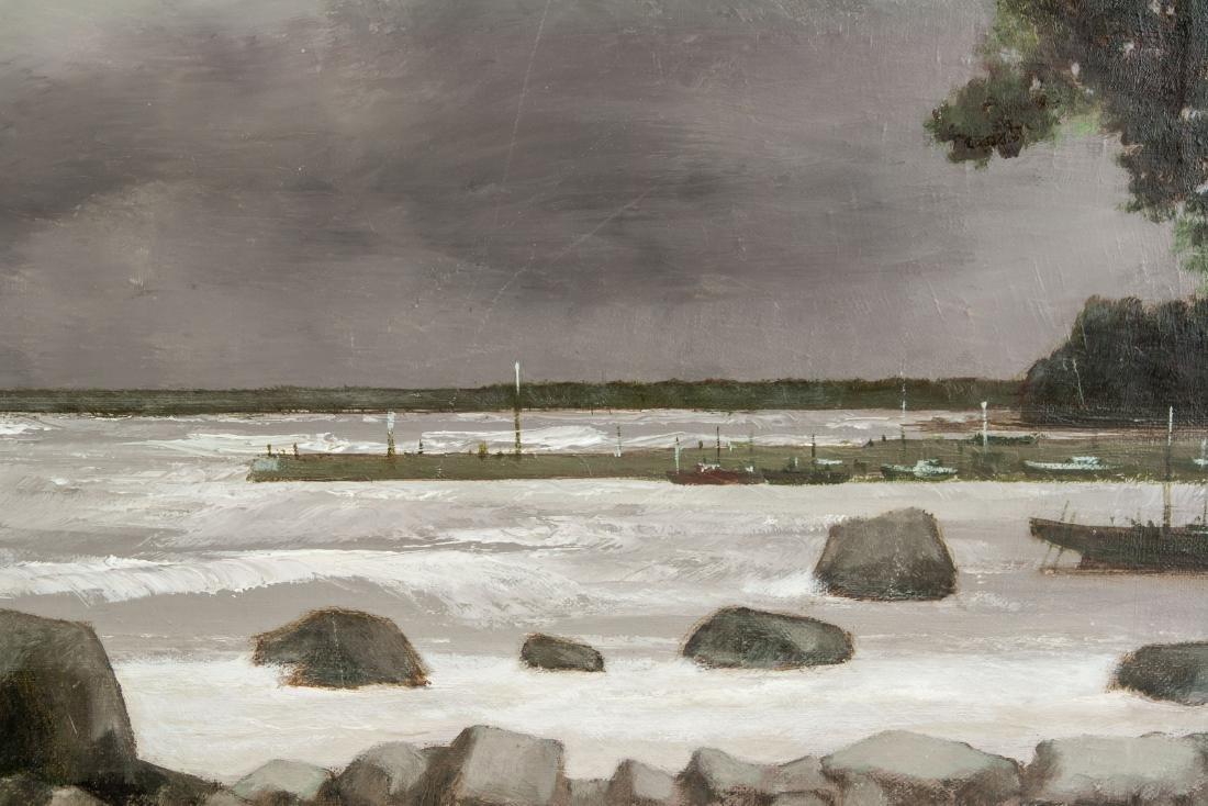 Pierre Gautiez French School Oil on Canvas Coastal - 3