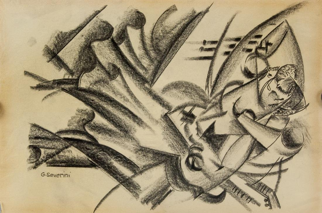 Gino Severini 1883-1966 Italian Graphite on Paper